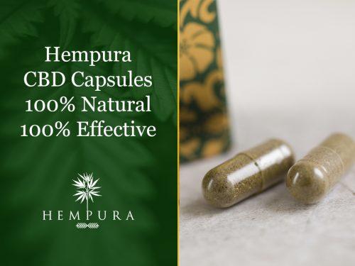 100% natural 300mg CBD capsules