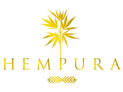 Hempura CBD UK Golden Logo 500x500